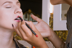 ... makeup artist in training ...